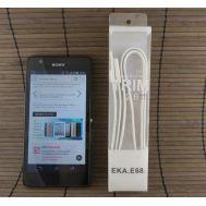 Data-cable USBFlat EKA 68 Micro White
