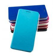 Чехол книжка для Meizu MX4 с магнитом голубой