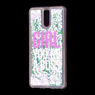 """Чехол для Meizu M6 Note Блестки вода светло-розовый """"босс"""""""