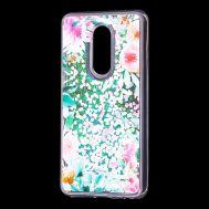 """Чехол для Meizu M8 Lite Блестки вода светло-розовый """"цветущие уголки"""""""