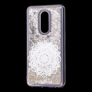 "Чехол для Meizu M8 Lite Блестки вода серебристый ""белая мандала"""