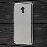 Чехол для Meizu M5 силиконовый белый прозрачный