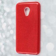 Чехол для Meizu M5 Shining Glitter с блестками красный