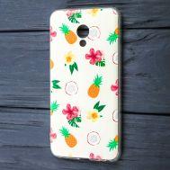 Чехол для Meizu M5 силиконовый с рисунком ананас и кокос