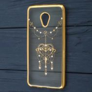 Чехол для Meizu M5 Kingxbar силиконовый золотой узор