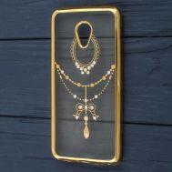 Чехол для Meizu M5 Kingxbar силиконовый золотой узор с каплей