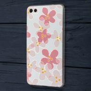 Чехол для Meizu U20 с рисунком розовые цветы