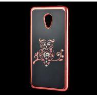 Чехол для Meizu M5 Kingxbar силиконовый розовый сова