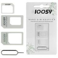 Переходник Noosy micro / nano Sim Adapter белый