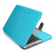 Кожаный чехол книжка TTX для Apple MacBook Retina 13 синий
