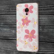 Чехол для Meizu M5 Note с рисунком розовый клевер