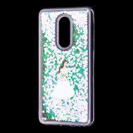 """Чехол для Meizu M8 Lite Блестки вода светло-розовый """"девушка в белом платье"""""""