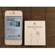 Кабель USB iPhone 5 1m белый (paper box)