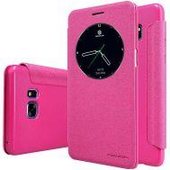 Кожаный чехол (книжка) Nillkin Spakle Series для Samsung N930F Note 7 Duos розовый