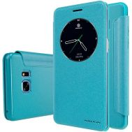 Кожаный чехол (книжка) Nillkin Spakle Series для Samsung N930F Note 7 Duos бирюзов