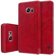 Кожаный чехол (книжка) Nillkin Qin Series для Samsung N930F Galaxy Note 7 Duos красны