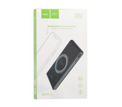 Фото №5 - Внешний аккумулятор PowerBank Hoco B32 8000 mAh с беспроводной зарядкой black 100625