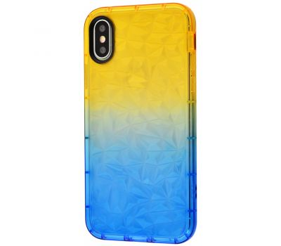 Чехол Gradient Gelin для iPhone X / Xs case желто-синий 1040452
