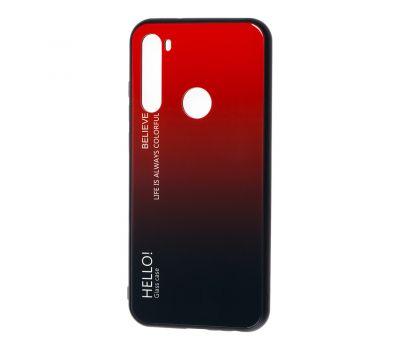 Чехол для Xiaomi Redmi Note 8T Hello glass красный