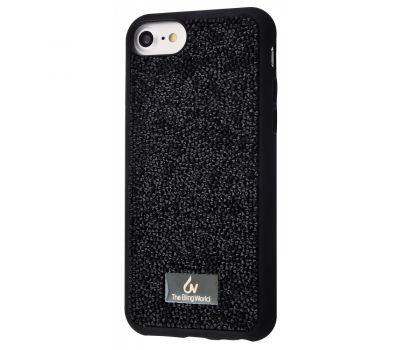 Чехол Bling grainy для iPhone 6 / 7 / 8 diamonds черный 1050557