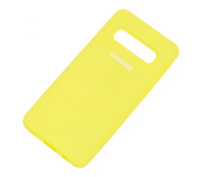 Чехол для Samsung Galaxy S10 (G973) Silicone Full лимонный 1053198