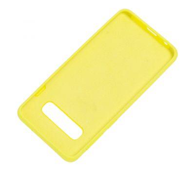Чехол для Samsung Galaxy S10 (G973) Silicone Full лимонный 1053199
