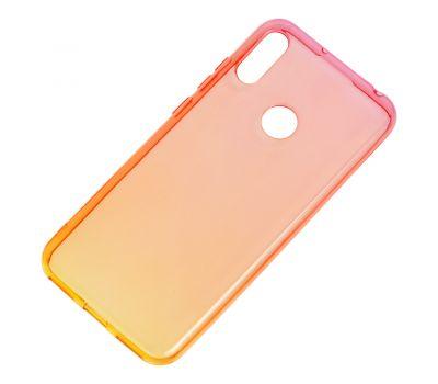 Чехол для Huawei Y6 2019 Gradient Design красно-желтый 1057847