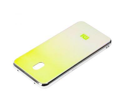 Чехол для Xiaomi Redmi 8A Rainbow glass с лого зеленый 1147704