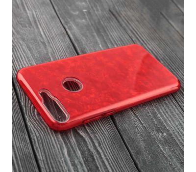Чехол для Huawei Y6 Prime (2018) Dream мрамор красный 116006