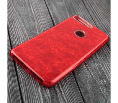 Чехол для Huawei Y6 Prime (2018) Dream мрамор красный 116007