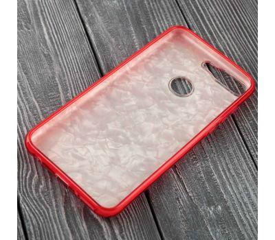 Чехол для Huawei Y6 Prime (2018) Dream мрамор красный 116008