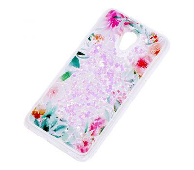 """Чехол для Meizu M6s Блестки вода светло-розовый """"цветущие уголки"""" 1278409"""