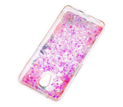"""Чехол для Meizu M6s Блестки вода светло-розовый """"цветущие уголки"""" 1278410"""