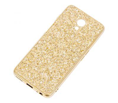 Чехол для Meizu M6s Shining sparkles с блестками золотистый 1478328
