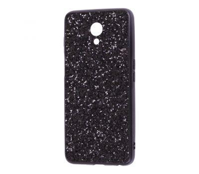 Чехол для Meizu M6s Shining sparkles с блестками черный 1521643