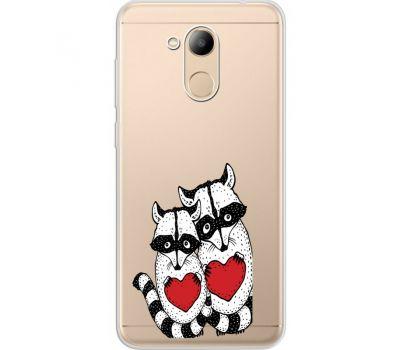 Силиконовый чехол BoxFace Huawei Honor 6C Pro Raccoons in love (34984-cc29)