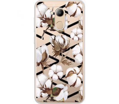 Силиконовый чехол BoxFace Huawei Honor 6C Pro Cotton flowers (34984-cc50)