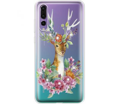 Силиконовый чехол BoxFace Huawei P20 Pro Deer with flowers (936195-rs5)