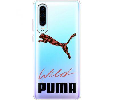 Силиконовый чехол BoxFace Huawei P30 Wild Cat (36852-cc66)