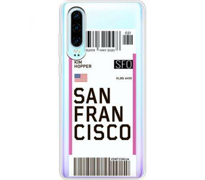 Силиконовый чехол BoxFace Huawei P30 Ticket  San Francisco (36852-cc79)