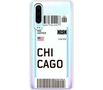 Силиконовый чехол BoxFace Huawei P30 Ticket Chicago (36852-cc82)