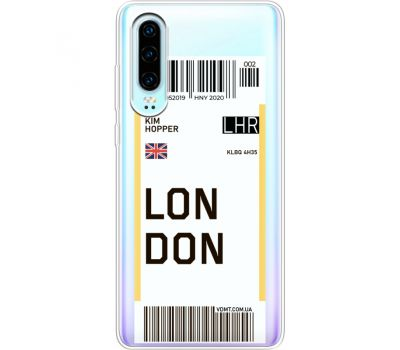 Силиконовый чехол BoxFace Huawei P30 Ticket London (36852-cc83)