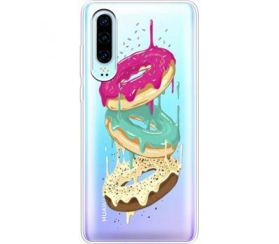 Силиконовый чехол BoxFace Huawei P30 Donuts (36852-cc7)