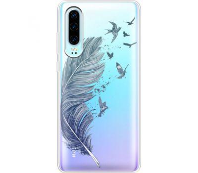 Силиконовый чехол BoxFace Huawei P30 Feather (36852-cc38)