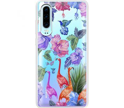 Силиконовый чехол BoxFace Huawei P30 Flamingo (36852-cc40)