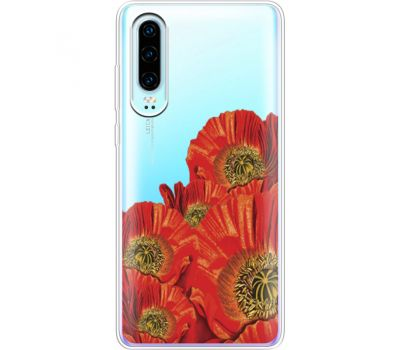 Силиконовый чехол BoxFace Huawei P30 Red Poppies (36852-cc44)