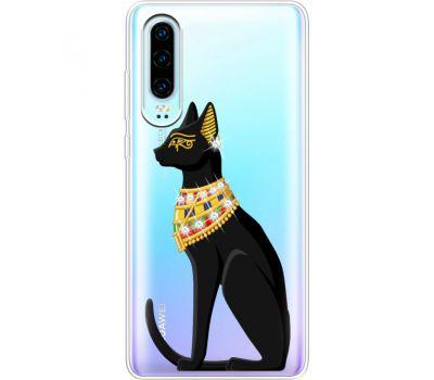 Силиконовый чехол BoxFace Huawei P30 Egipet Cat (936852-rs8)