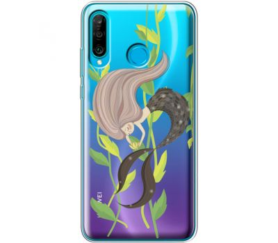 Силиконовый чехол BoxFace Huawei P30 Lite Cute Mermaid (36872-cc62)