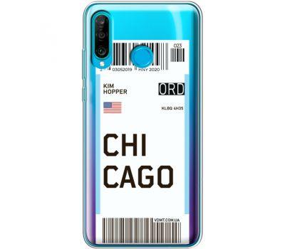 Силиконовый чехол BoxFace Huawei P30 Lite Ticket Chicago (36872-cc82)