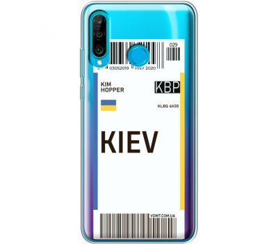 Силиконовый чехол BoxFace Huawei P30 Lite Ticket Kiev (36872-cc88)